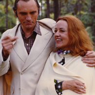 With Jeanne Moreau